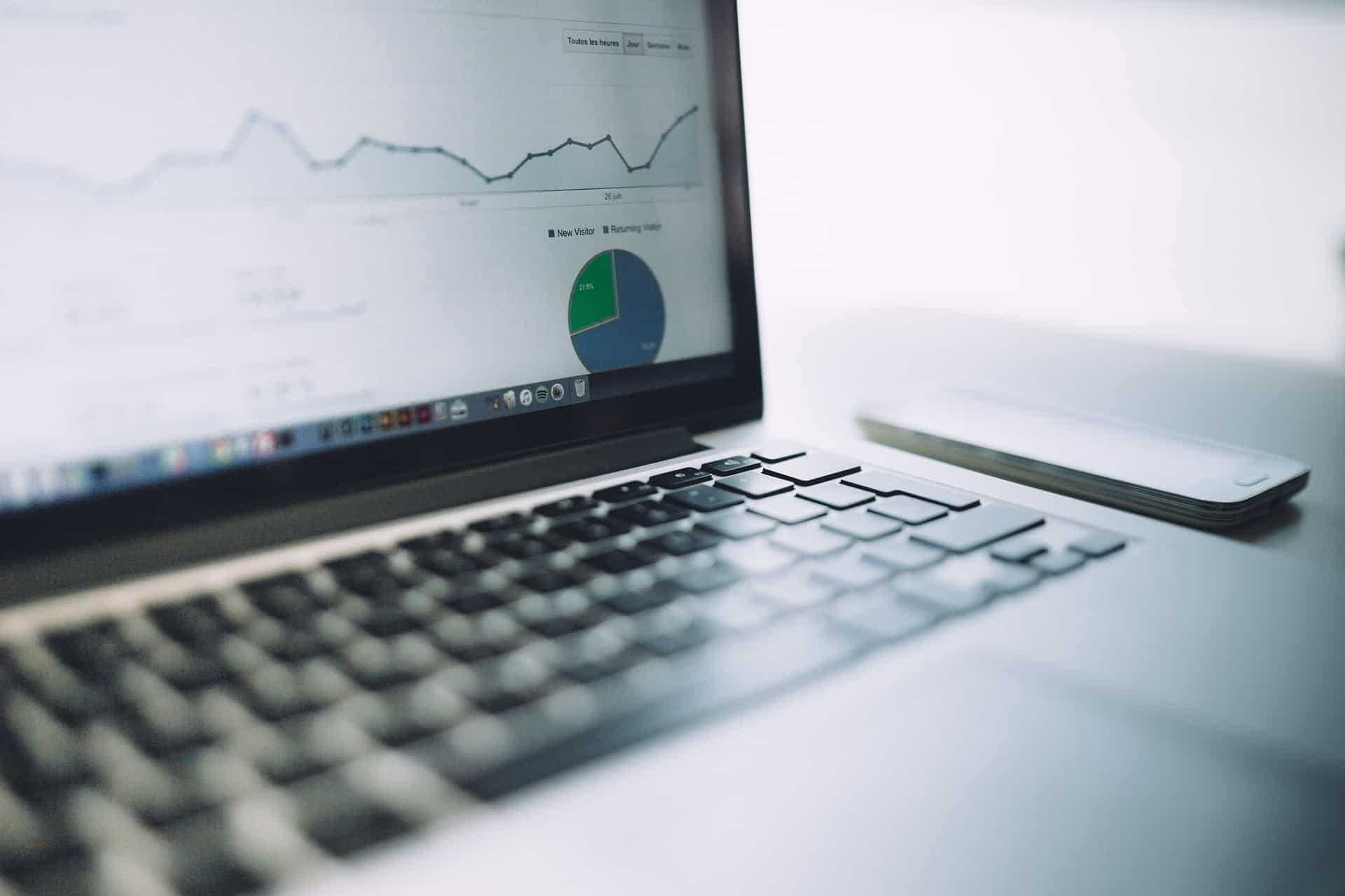 Google Analytics Laptop View