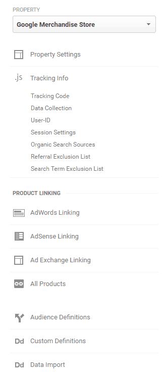 Google Analytics Audit - Admin - Property