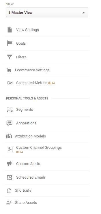 Google Analytics Audit - Account Admin - Views