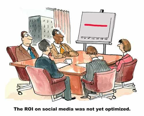 cartoon - social media return on investment