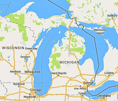 michigan map for digital marketing website