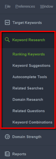 seo powersuite keyword research tools