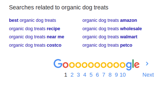 Google Related Searches Sample