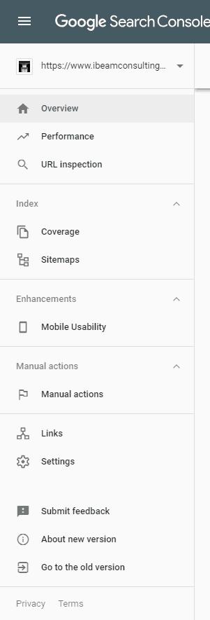 Google SEO Tools - Google Search Console - New Menu