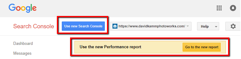 google search console new reports prompts