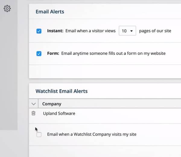 leadlander email alerts company watchlist