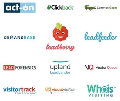 logos of website visitor tracking software vendors