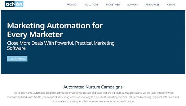 act-on b2b marketing tools