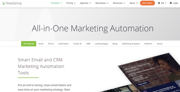 sharpspring marketing automation for agencies