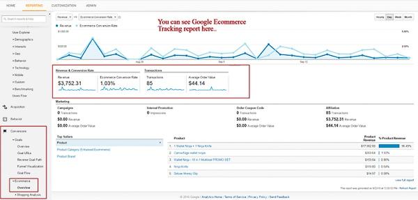 thedotstore google analytics ecommerce tracking