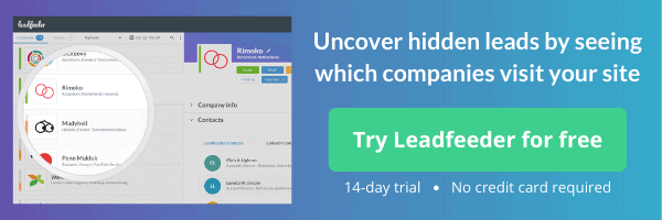leadfeeder free trial promotion