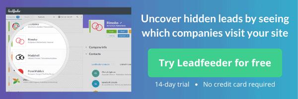 leadfeeder free trial promotion