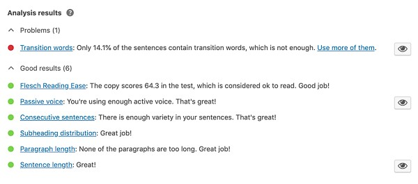 yoast content readability scoring