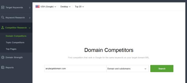 seo powersuite domain competitors
