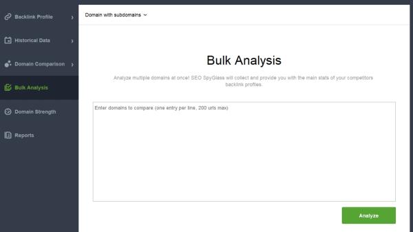 seo spyglass competitor backlink analysis