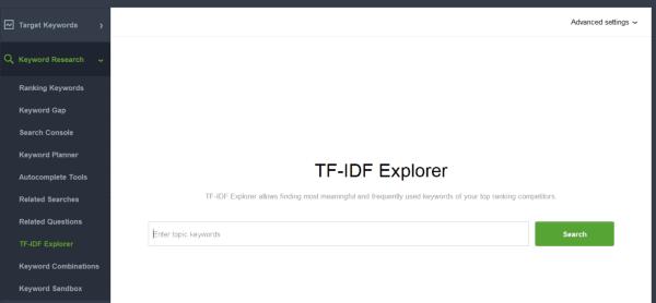seo powersuite tf-idf competitor analysis