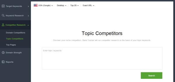seo analysis topic competitors